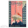 キュナード・客船アキタニアのポスター | レプリカポストカード2271e