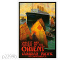 カナディアンパシフィック・エンプレス・オブ・ラシア級客船のポスター | レプリカポストカード2299b