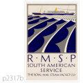ロイヤルメールライン・Aクラス客船のポスター | レプリカポストカード2317b