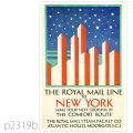 ロイヤルメールライン・客船オハイオのポスター | レプリカポストカード2319b