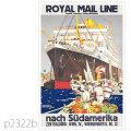 ロイヤルメールライン・客船アストリアス、アルカンターラのポスター | レプリカポストカード2322b