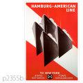 ハンブルグアメリカライン・アルベルトバリーン級客船のポスター | レプリカポストカード2355b