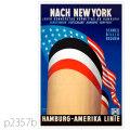 ハンブルグアメリカライン・客船ハンブルグのポスター | レプリカポストカード2357b