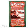 レッドスターライン・ベダーランド級客船のポスター | レプリカポストカード2380