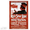 レッドスターライン・ラップランド級客船のポスター | レプリカポストカード2381