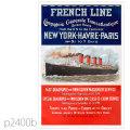 フレンチライン・客船フランス(1912)のポスター | レプリカポストカード2400b