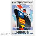 フレンチライン・客船リベルテのポスター | レプリカポストカード2415b