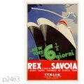 イタリアンライン・客船コンテ・ディ・サヴォアのポスター | レプリカポストカード2463