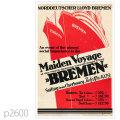 北ドイツロイド・客船ブレーメンのポスター | レプリカポストカード2600