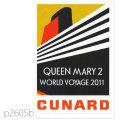 キュナード・客船クイーンメリー2のポスター | レプリカポストカード2605b