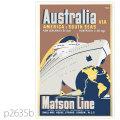 マトソンライン・客船マリポサ級のポスター(戦前) | レプリカポストカード2635b