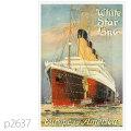 ホワイトスターライン・客船オリンピックのポスター | レプリカポストカード2637