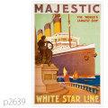 ホワイトスターライン・客船マジェスティックのポスター | レプリカポストカード2639