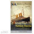 ハンブルグアメリカライン・客船ドイチェラントのポスター | レプリカポストカード2665