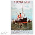 キュナード・客船ルカニア、カンパニアのポスター | レプリカポストカード2676