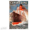 キュナード・客船カロニア、カーマニアのポスター | レプリカポストカード2681