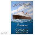 キュナード・客船ブリタニック、ジョージックのポスター | レプリカポストカード2690
