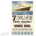 イタリアンライン・客船アンドレア・ドリアのポスター | レプリカポストカード2753