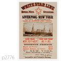 ホワイトスターライン・客船ブリタニック級、チュートニック級のポスター | レプリカポストカード2776