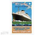 ホワイトスターライン・客船ブリタニック、ジョージックのポスター | レプリカポストカード2779