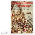 フレンチライン・客船サヴォア、ロレーヌのポスター | レプリカポストカード2781