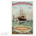 フレンチライン・ブルゴーニュ級客船のポスター | レプリカポストカード2787