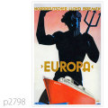 北ドイツロイド・客船オイローパのポスター | レプリカポストカード2798