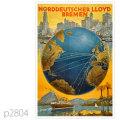 北ドイツロイド・客船コロンバスのポスター | レプリカポストカード2804