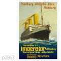 ハンブルグアメリカライン・インペラトール級客船のポスター | レプリカポストカード2863