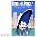 ホ−ランドアメリカライン・客船ロッテルダム(1959)のポスター | レプリカポストカード2868