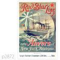 レッドスターライン・客船ウェスタンランドのポスター | レプリカポストカード2872