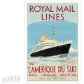 ロイヤルメールライン・客船アンデスのポスター | レプリカポストカード2878