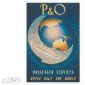 P&O・客船アルカディア、イベリアのポスター | レプリカポストカード2895