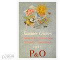 P&O・客船チューサンのポスター | レプリカポストカード2899