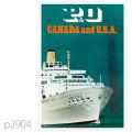 P&O・客船オリアナのポスター | レプリカポストカード2904