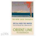 オリエントライン・客船オーカデス、ヒマラヤのポスター | レプリカポストカード2906