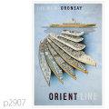 オリエントライン・客船オロンセイ、オルソヴァのポスター | レプリカポストカード2907