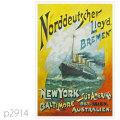 北ドイツロイド・カイザー・ヴィルヘルム・デア・クローゼ級客船のポストカード | レプリカポストカード2914