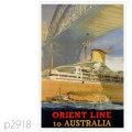 オリエントライン・客船オリオン、オーカデスのポスター | レプリカポストカード2918