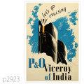 P&O・客船バーセロイ・オブ・インディアのポスター | レプリカポストカード2923