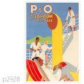 P&O・ストラス級客船のポスター | レプリカポストカード2928