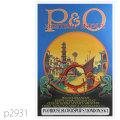 P&O・客船マローヤ、ムールタンのポスター | レプリカポストカード2931