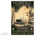 ホワイトスターライン・客船ホーメリックのポスター | レプリカポストカード2941