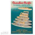 カナディアンパシフィック・客船エンプレス・オブ・スコットランドのポスター | レプリカポストカード2950
