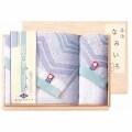 【送料無料】今治なみいろ 大判フェイスタオル・ウォッシュタオル 国産木箱入 (Y21-501)