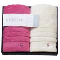 KURUMI フェイスタオル2P ピンク・ホワイト ( KUM-401-2 )