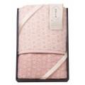【送料無料】和布小紋 七宝 アクリル毛布 毛羽部分 ピンク(W57-05)