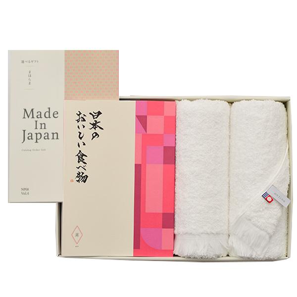カタログギフト まほらまwith日本のおいしい食べ物 NP08蓮+今治フェイスタオルセット[送料無料] ●1737a208