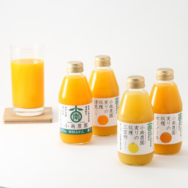 小南農園 / 実りの収穫4種の柑橘ジュース飲み比べセット※ ●75094226