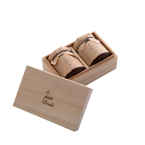 le pain boule / ハニー2個セット 木箱入り ※ ●78160012